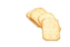 Cracker impilati isolati Fotografia Stock Libera da Diritti