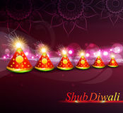 Cracker indiani variopinti di diwali di festival della decorazione di vettore Fotografia Stock