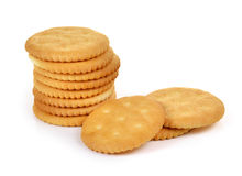 Cracker isolated on  over white background Royalty Free Stock Photography