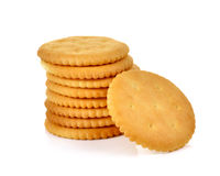 Cracker isolated on over white background Royalty Free Stock Photo