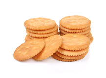 Cracker. Isolated on over white background stock photo