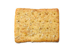 Cracker isolated on white Royalty Free Stock Photo