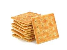 Cracker. Isolated on white background stock photo
