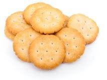 Cracker. Isolated on white background royalty free stock photo