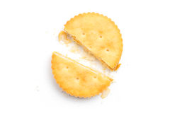 Cracker isolato immagine stock libera da diritti