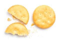 Cracker isolato immagini stock