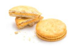 Cracker isolato immagini stock libere da diritti