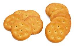 Cracker isolato su bianco Fotografie Stock Libere da Diritti