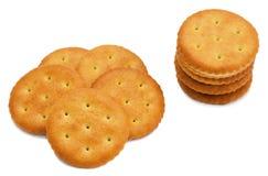 Cracker isolato su bianco Immagine Stock
