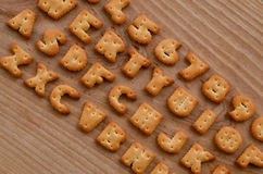 Cracker keyboard buttons Stock Images
