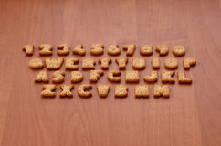 Cracker keyboard buttons stock photography