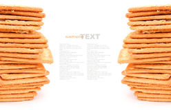 Cracker of koekje stock foto