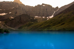 Cracker Lake Glacier National Park Montana Royalty Free Stock Photo