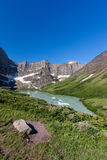 Cracker Lake in Glacier national park, Montana Stock Image