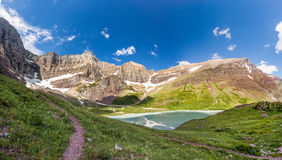 Cracker lake trail, Glacier national park Royalty Free Stock Photography
