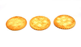 Cracker lokalisiert auf Weiß Lizenzfreies Stockfoto