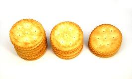 Cracker lokalisiert auf Weiß Stockbild