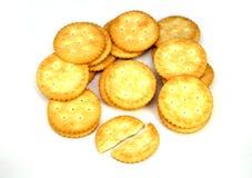 Cracker lokalisiert auf Weiß Stockbilder
