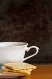 Cracker met koffie Stock Afbeelding