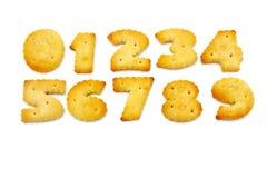 Cracker mit Salz Lizenzfreie Stockfotografie