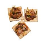 Cracker mit Sardinesalat Lizenzfreies Stockbild