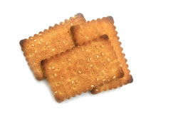 Cracker mit Zucker Lizenzfreies Stockbild