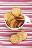 Cracker in plastic bowl Royalty Free Stock Photos