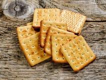 Cracker quadrato del biscotto Fotografia Stock Libera da Diritti
