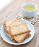 Cracker salati Immagini Stock Libere da Diritti