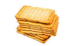 Cracker salati Immagini Stock