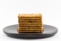 Cracker salati Fotografia Stock Libera da Diritti