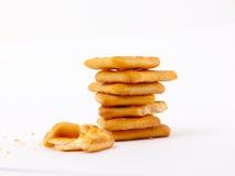 Cracker salati Fotografie Stock