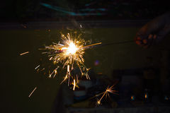 cracker scintillante Fotografie Stock Libere da Diritti
