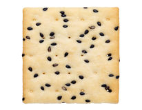 Cracker with sesame Royalty Free Stock Images