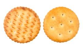 Cracker sides. Against white background stock photography