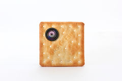 Cracker spy cam small lens Stock Photo
