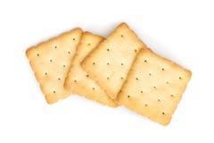 Cracker. Square cracker isolated on white background stock photography