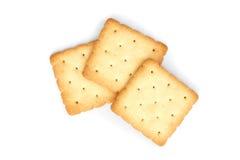 Cracker. Square cracker isolated on white background stock image