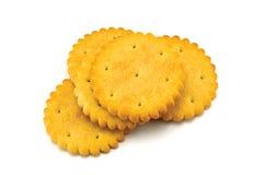 Cracker Stack macro isolated closeup crackers Stock Photo
