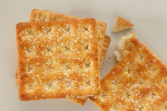 Cracker. Stack on the table Stock Photography