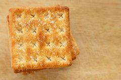 Cracker. Stack on the table Royalty Free Stock Images