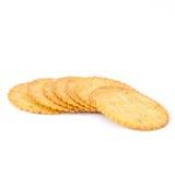 Cracker su fondo bianco fotografie stock libere da diritti
