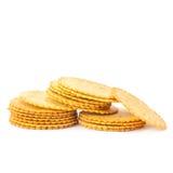 Cracker su fondo bianco fotografia stock libera da diritti