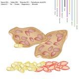 Cracker tailandese dell'arachide con la vitamina B ed E Immagine Stock