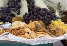 Cracker-Tellersegment Stockfoto