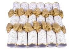 Cracker tradizionali di Natale Immagini Stock Libere da Diritti