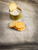 Cracker with tuna spread Royalty Free Stock Image