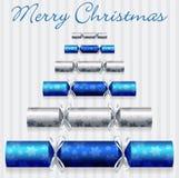 Cracker-Weihnachtskarte lizenzfreie abbildung