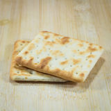 Cracker on wooden Royalty Free Stock Images