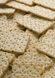 Crackers. Whole-wheat crackers diet background Stock Photo